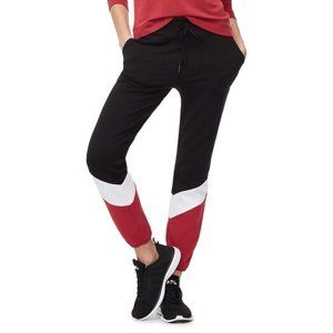 Good American NWT Black/Red/White The Joggers Pant